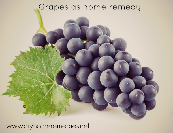 Grapes as home remedy