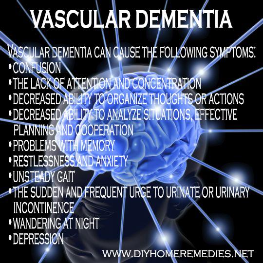 Vascular dementia - DIY home remedies